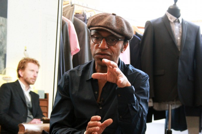 Itv Manu Katché par Laurent Bataille chez Marchand Drapier, Paris. ©Couleurs Jazz