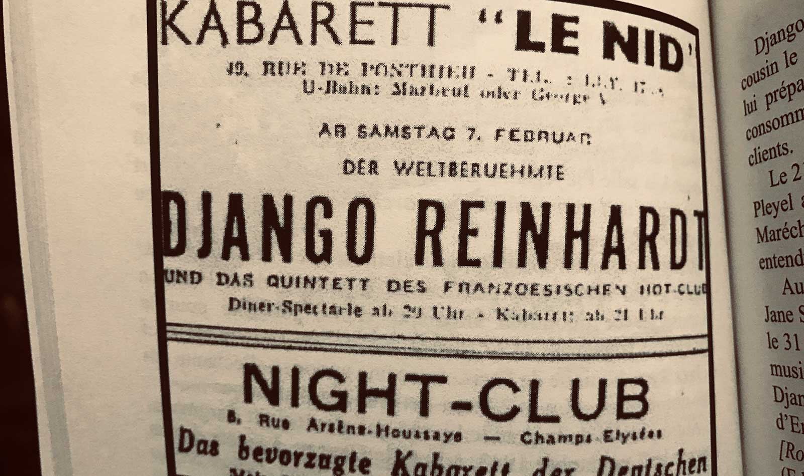DJANGO REINHARDT Un musicien tsigane dans l'Europe nazie – Gérard Régnier